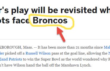 ESPN Patriots vs Seattle Story Incorrectly Has Broncos