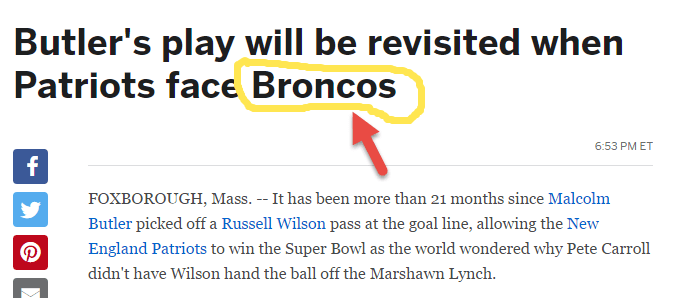 ESPN Patriots vs Seattle Story Incorrectly Has Broncos